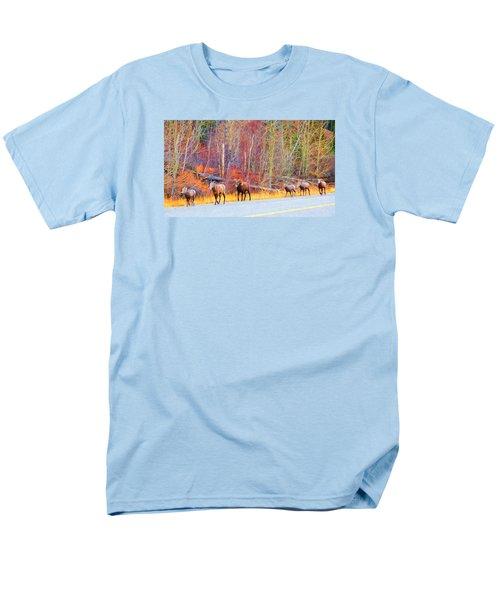 Single File For Safety Men's T-Shirt  (Regular Fit)