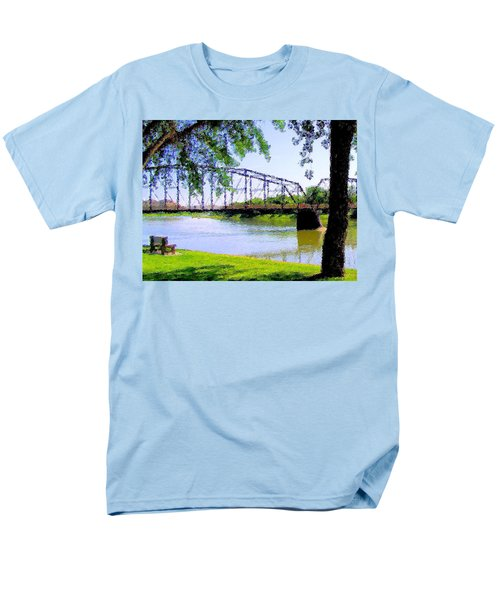 Men's T-Shirt  (Regular Fit) featuring the photograph Sitting In Fort Benton by Susan Kinney