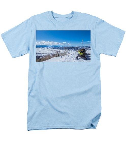 Ski Patrol Men's T-Shirt  (Regular Fit) by Sean Allen
