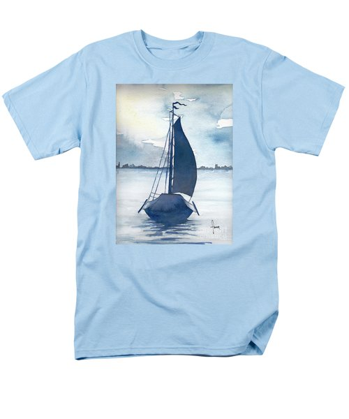 Skutsje No.2 Men's T-Shirt  (Regular Fit) by Annemeet Hasidi- van der Leij