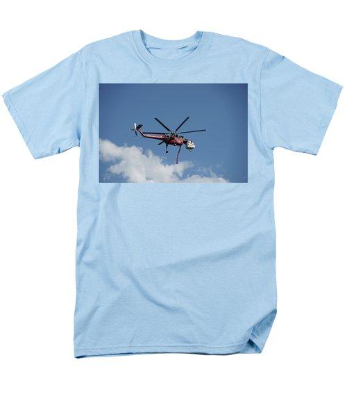Skycrane Works The Red Canyon Fire Men's T-Shirt  (Regular Fit) by Bill Gabbert