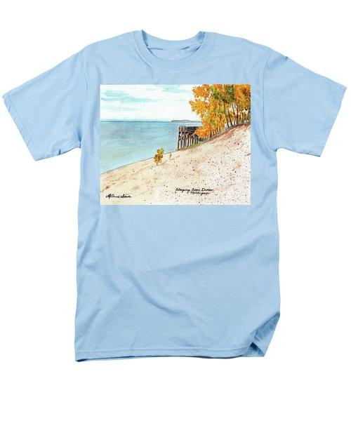Sleeping Bear Dunes Men's T-Shirt  (Regular Fit) by LeAnne Sowa