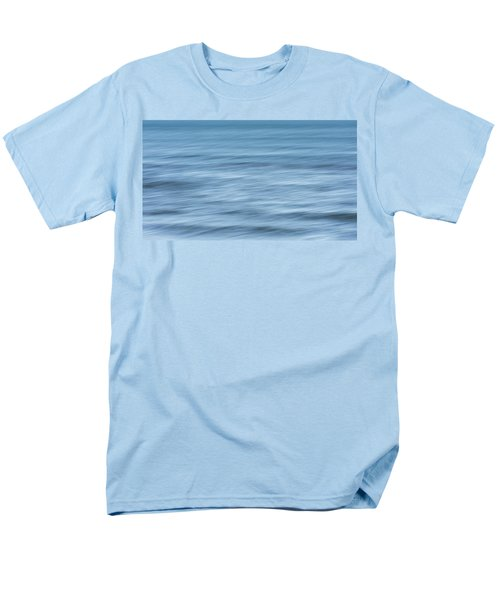 Smooth Blue Abstract Men's T-Shirt  (Regular Fit) by Terry DeLuco