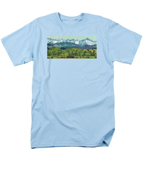 Sneffels Range Spring Men's T-Shirt  (Regular Fit) by Dan Miller
