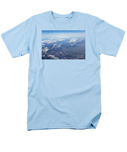 Snow Covered Rocky  Men's T-Shirt  (Regular Fit) by Yumi Johnson