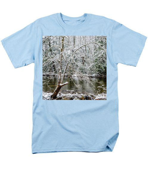 Men's T-Shirt  (Regular Fit) featuring the photograph Snow Cranberry River by Thomas R Fletcher