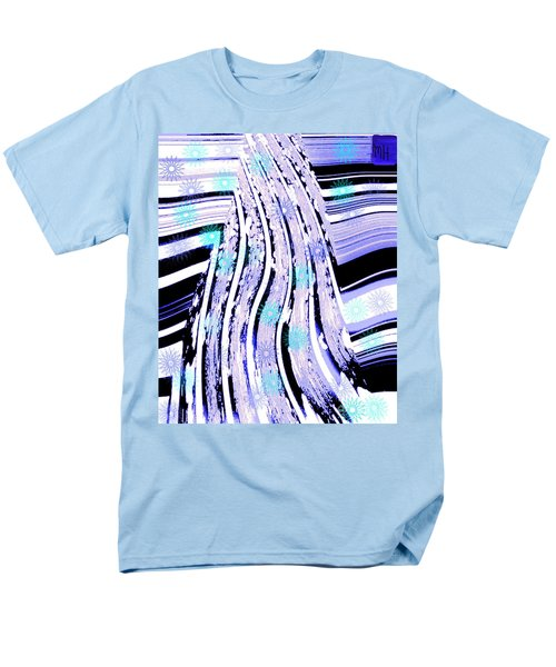 Men's T-Shirt  (Regular Fit) featuring the digital art Snow On Ski Mountain by Marsha Heiken