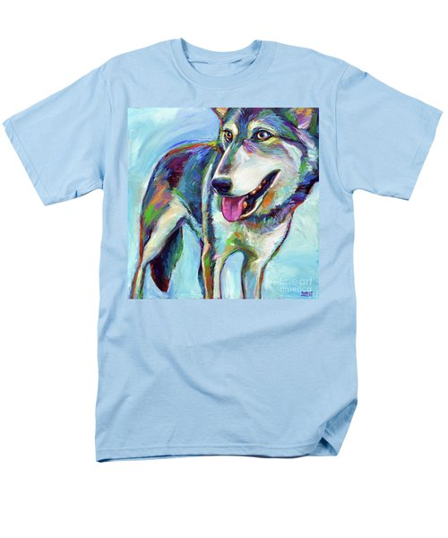 Men's T-Shirt  (Regular Fit) featuring the painting Snow Wolf by Robert Phelps