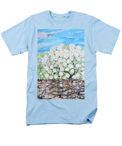 Men's T-Shirt  (Regular Fit) featuring the painting Snowballs Flowers by Evelina Popilian