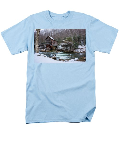 Snowing At The Mill  Men's T-Shirt  (Regular Fit) by Steve Hurt