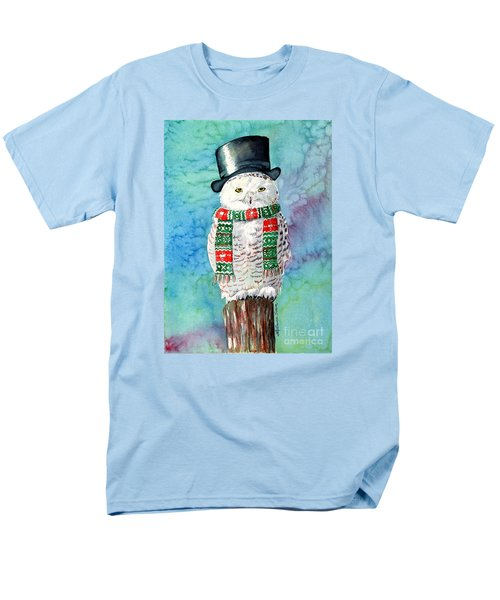 Men's T-Shirt  (Regular Fit) featuring the painting Snowman Owl by LeAnne Sowa