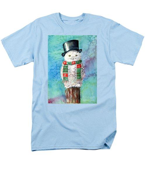 Snowman Owl Men's T-Shirt  (Regular Fit) by LeAnne Sowa
