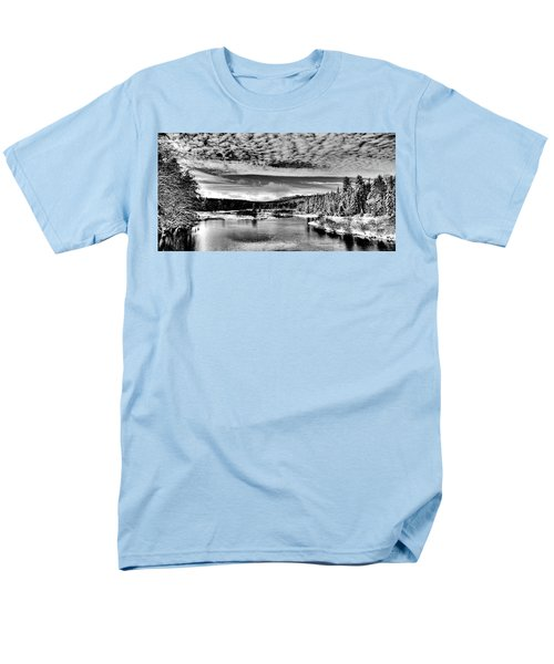 Snowy Day At The Green Bridge Men's T-Shirt  (Regular Fit) by David Patterson