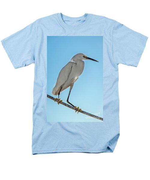 Snowy Egret Men's T-Shirt  (Regular Fit) by Robert Bales