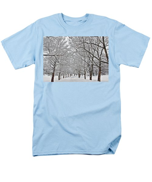Men's T-Shirt  (Regular Fit) featuring the photograph Snowy Treeline by Aimee L Maher Photography and Art Visit ALMGallerydotcom