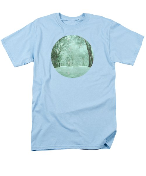 Snowy Winter Night Men's T-Shirt  (Regular Fit) by Mary Wolf