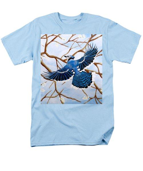 Soaring Blue Jay  Men's T-Shirt  (Regular Fit)