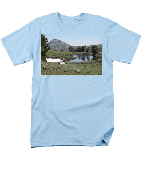 Men's T-Shirt  (Regular Fit) featuring the photograph Soldier Lake And Peak by Jenessa Rahn