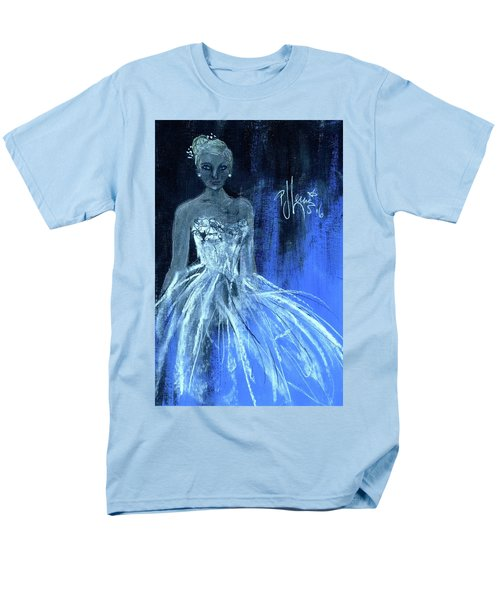 Men's T-Shirt  (Regular Fit) featuring the painting Something Blue by P J Lewis
