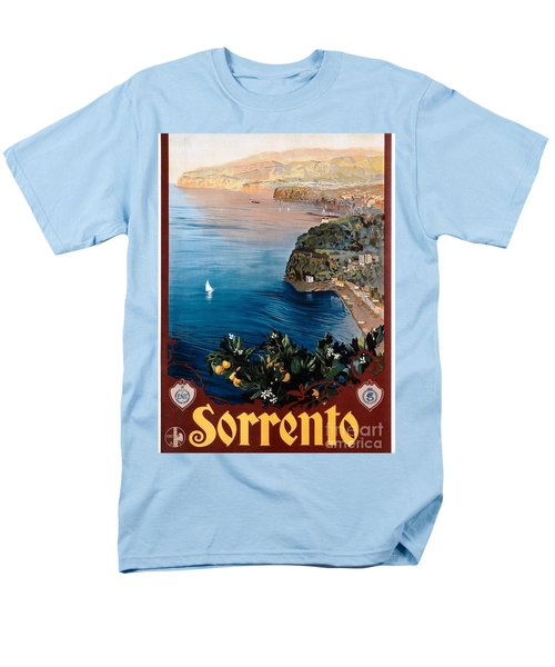 Men's T-Shirt  (Regular Fit) featuring the painting Sorrento - Poster by Pg Reproductions