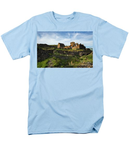 Splendid Ruins Of St. Sargis Monastery In Ushi, Armenia Men's T-Shirt  (Regular Fit) by Gurgen Bakhshetsyan