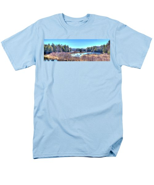 Men's T-Shirt  (Regular Fit) featuring the photograph Spring Scene At The Tobie Trail Bridge by David Patterson