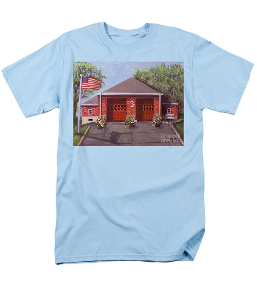 Spring Day At Willow Fire House Men's T-Shirt  (Regular Fit) by Rita Brown