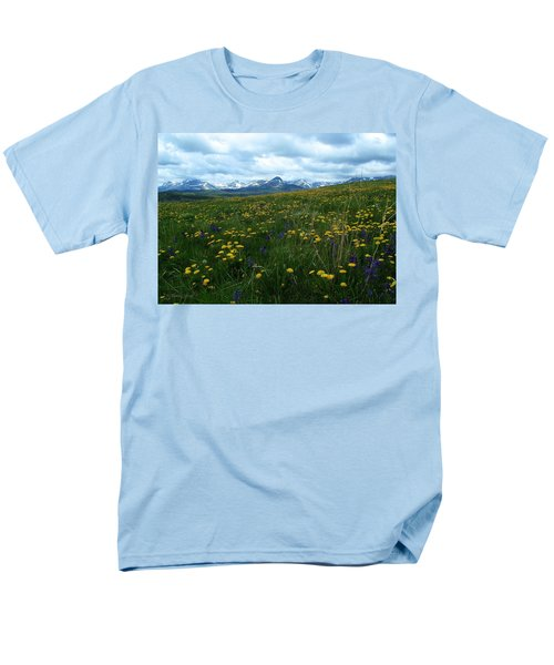 Spring Flowers On The Front Men's T-Shirt  (Regular Fit)