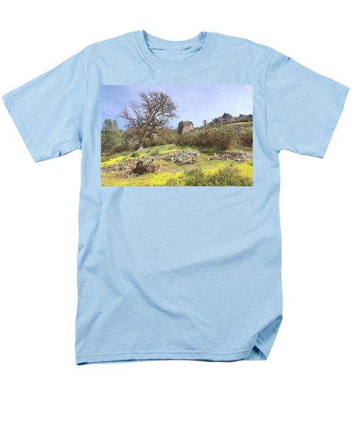 Men's T-Shirt  (Regular Fit) featuring the photograph Spring In Pinnacles National Park by Art Block Collections