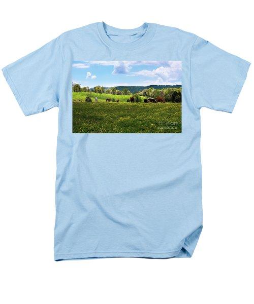 Spring Pastureland Men's T-Shirt  (Regular Fit) by Paul Mashburn
