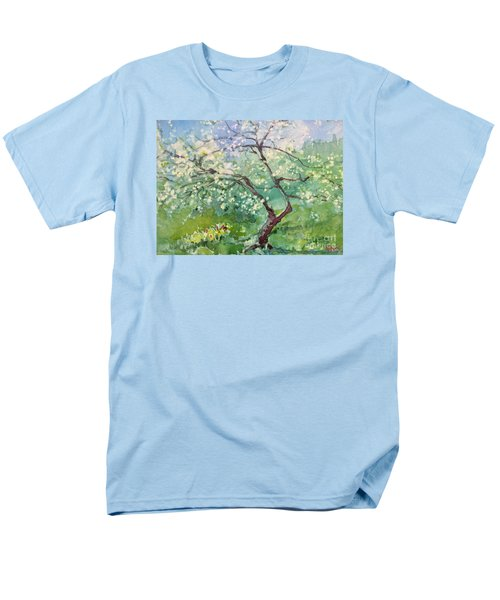 Men's T-Shirt  (Regular Fit) featuring the painting Spring Plum by Elizabeth Carr