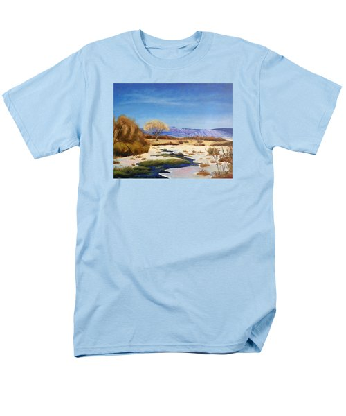 Men's T-Shirt  (Regular Fit) featuring the painting Spring Runoff by Sherril Porter