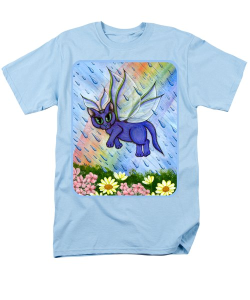 Men's T-Shirt  (Regular Fit) featuring the painting Spring Showers Fairy Cat by Carrie Hawks