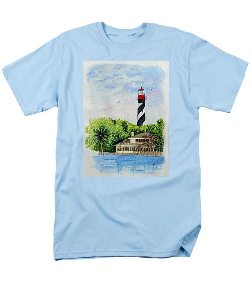 St Augustine Lighthouse  Men's T-Shirt  (Regular Fit) by Terri Mills