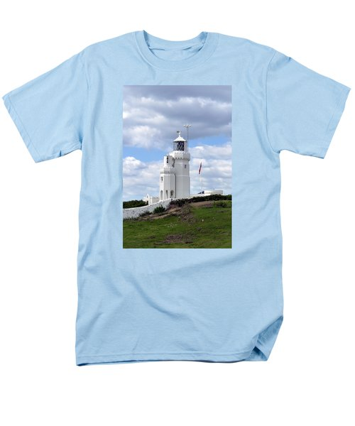 Men's T-Shirt  (Regular Fit) featuring the photograph St. Catherine's Lighthouse On The Isle Of Wight by Carla Parris