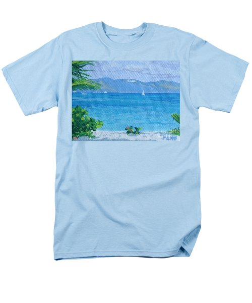 St Martin From Anguilla Men's T-Shirt  (Regular Fit) by Margaret Brooks