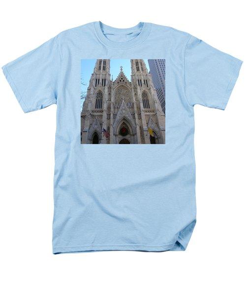 Men's T-Shirt  (Regular Fit) featuring the photograph St Patrick's Cathedral, Nyc by Melinda Saminski