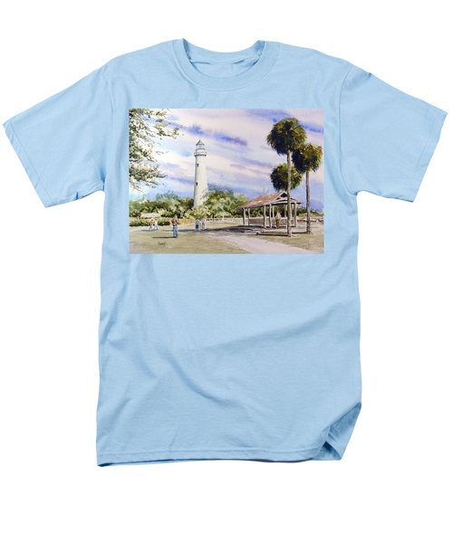 St. Simons Island Lighthouse Men's T-Shirt  (Regular Fit) by Sam Sidders