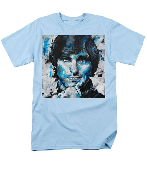 Men's T-Shirt  (Regular Fit) featuring the painting Steve Jobs II by Richard Day