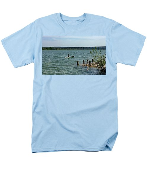 Men's T-Shirt  (Regular Fit) featuring the photograph Stillhouse Lake Canoe - No.2016 by Joe Finney