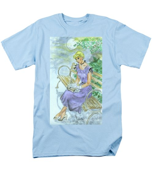 Men's T-Shirt  (Regular Fit) featuring the painting Stood Up by P J Lewis