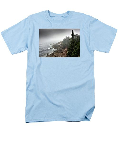 Stormy North Atlantic Coast - Acadia National Park - Maine Men's T-Shirt  (Regular Fit) by Brendan Reals