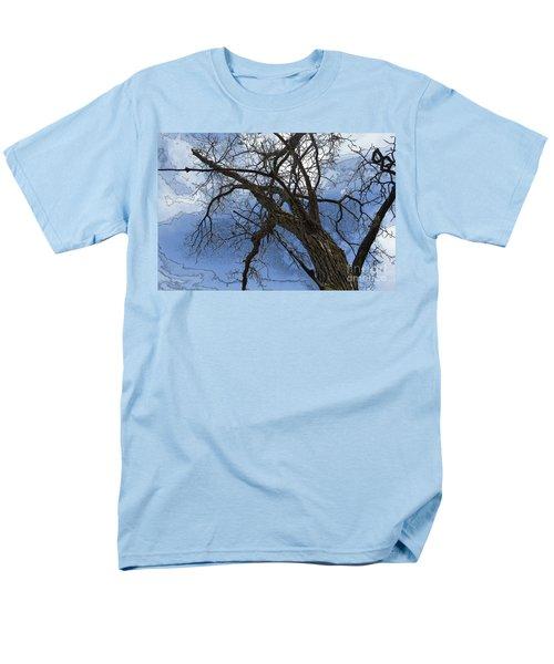 Stormy Sky Blue Men's T-Shirt  (Regular Fit) by Renie Rutten