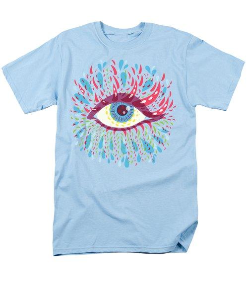 Strange Blue Psychedelic Eye Men's T-Shirt  (Regular Fit) by Boriana Giormova