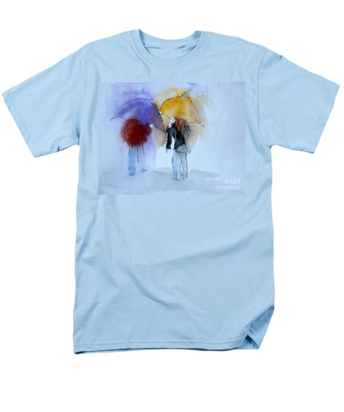 Strolling In The Rain Men's T-Shirt  (Regular Fit) by Vicki  Housel