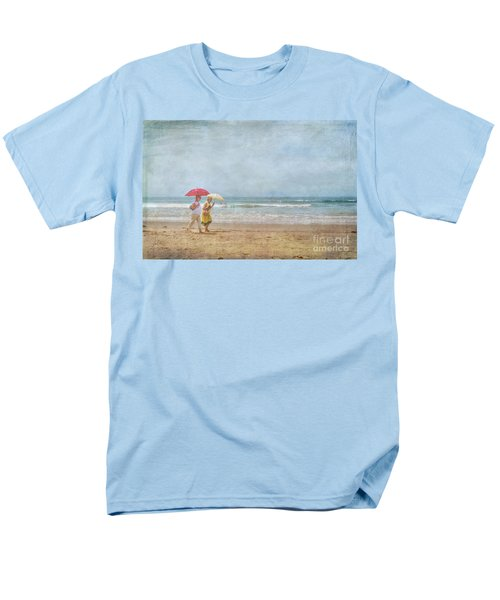 Men's T-Shirt  (Regular Fit) featuring the photograph Strolling On The Beach by David Zanzinger