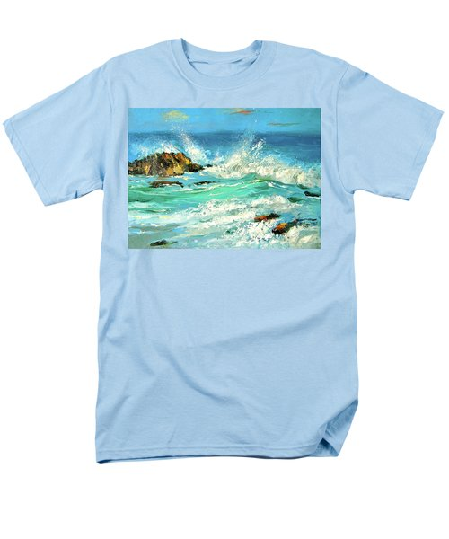 Men's T-Shirt  (Regular Fit) featuring the painting Study Wave by Dmitry Spiros