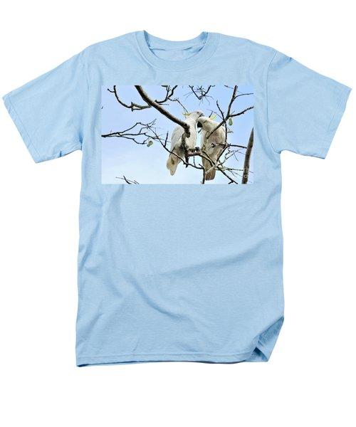 Sulphur Crested Cockatoos Men's T-Shirt  (Regular Fit) by Kaye Menner