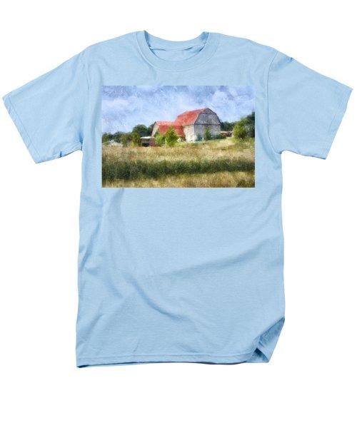 Men's T-Shirt  (Regular Fit) featuring the digital art Summer Barn by Francesa Miller
