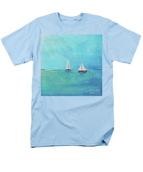 Men's T-Shirt  (Regular Fit) featuring the painting Summer Breeze-e by Jean Plout